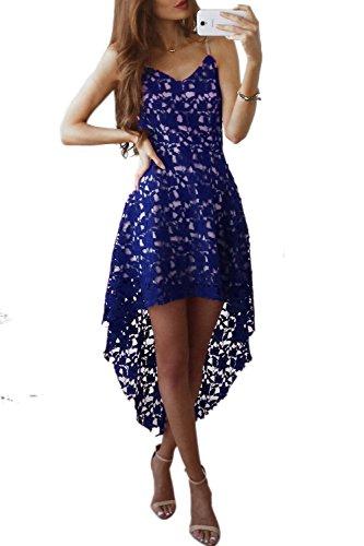 Torch Au blue Robe lgantes De Swing Les Robes Bas Crochet Femmes des Haut Dentelles en RA57qgAfxw