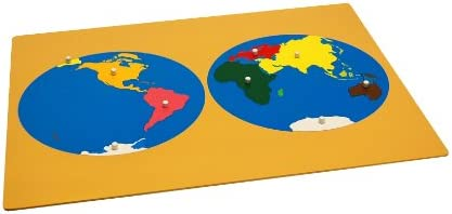 Amazon montessori puzzle map of world parts toys games montessori puzzle map of world parts gumiabroncs Gallery