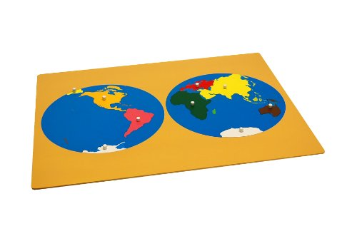 Montessori Puzzle Map of World Parts w/ Control