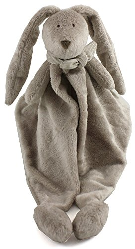 Dimpel FLOR DOUDOU, Cuddly Stuffed Bunny Security Blanket, in Beige (Doudou Soft Toy)