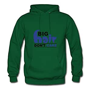 X-large Green Style Personality Puzzle Big Hair Don't Care Sweatshirts By Bradfohod - Women