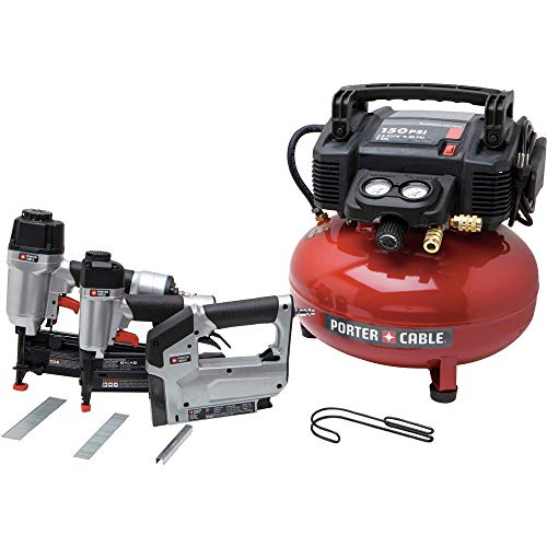 Porter-Cable PCFP12234R 3-Piece Finish Nailer & Brad Nailer Combo Kit (Certified Refurbished) ()