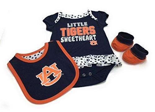 Gen 2 Baby Auburn Tigers Little Sweet Bib Bootie & Bodysuit Set - Auburn Tigers Bib