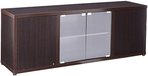 Coaster Home Furnishings TV Console with 2 Magnetic-Push Doors Cappuccino