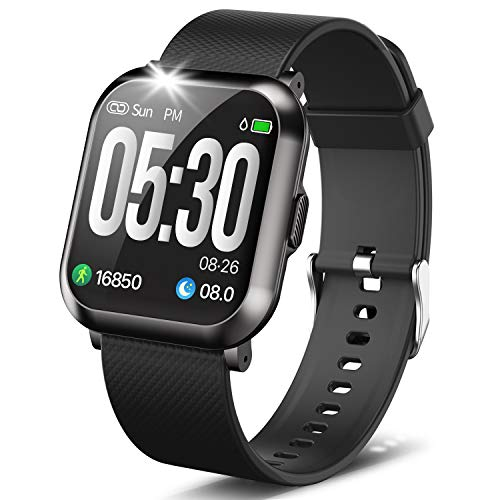 """DoSmarter Fitness Watch, 1.3"""" Touch Screen Smartwatch with Heart Rate Blood Pressure Monitor, Waterproof Fitness Tracker with 10 Sport Modes, Step Calories Counter, and Sleep Tracking for Women Men"""