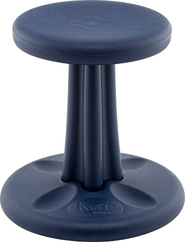 Kore Patented WOBBLE Chair, Made in the USA, Active Sitting for Toddler, Pre-School, Kids, and Teens; Kids don't have to sit still anymore -The BEST seat in any Classroom! - Dark Blue - Kids (14in) (Safety Balls Fun)