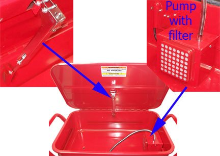 20 Gallon Mobile Parts Washer Cart by Generic (Image #4)