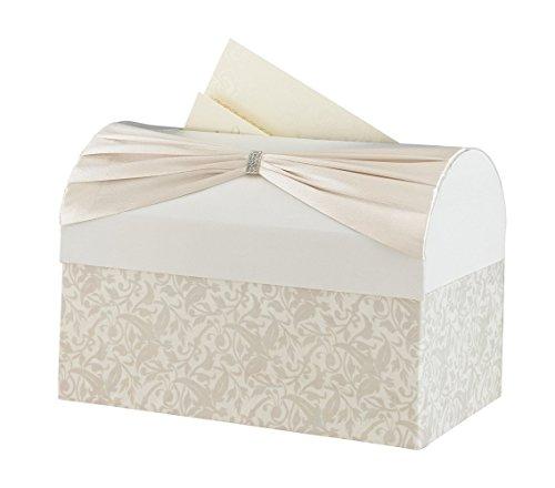 Ivory Wedding Card - Lillian Rose Vintage Ivory Satin Wedding Reception Card Box