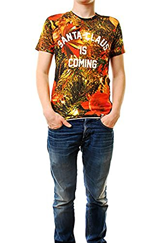 Eleven Paris Herren SLONEL T-Shirt Kurzarm mit Rundhalsausschnitt Printed Multi Farbe Größe M