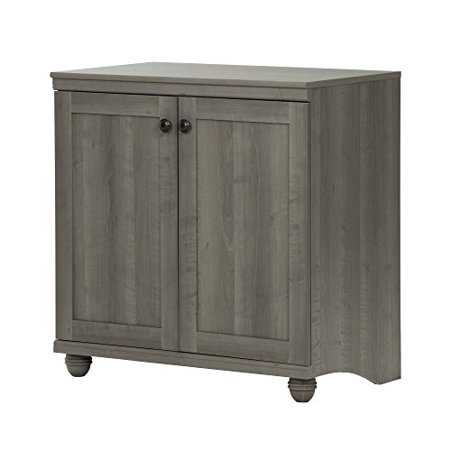 South Shore Hopedale 2-Door Storage Cabinet, Gray Maple (Furniture Main Cottage)