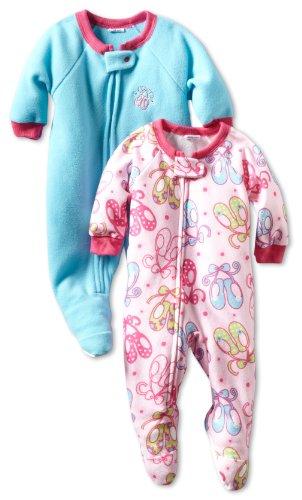 Gerber Baby Girls' 2 Pack Ballet Slippers Sleeper Blanket