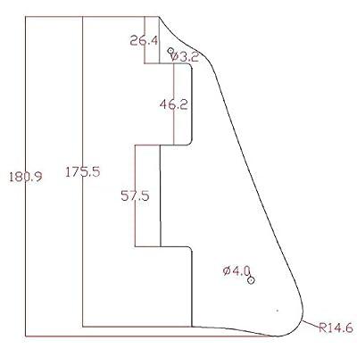 Kmise A7699 1 Piece 3-Ply Black Pearl Plate Pickguard Les Paul Guitar Replacement from Kmise