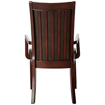 Coaster Home Furnishings Casual Arm Chair, Walnut, Set of 2