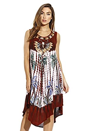 Riviera Sun Summer Dresses Tie Dye Embroidered Beach