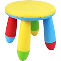 Galashield Plastic Kids Chair Stool 10 (Yellow, 2 Pack)