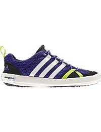 adidas D66645 Men's Climacool Boat Lace Footwear, Blast Purple/Chalk/Solar Slime- 10