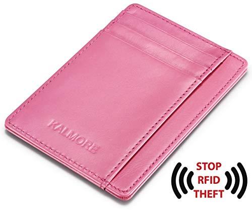 Kalmore Credit Card Holder Genuine Leather Slim & Thin Pocket Wallet Minimalist Wallet Money Clip RFID Blocking by KALMORE (Image #3)