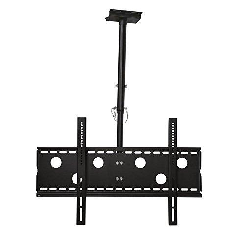 Monitor Deckenhalterung schwarz ausziehbar von 57cm bis 80cm schwenkbar, 20° neigbar 360° drehbar für LG 75