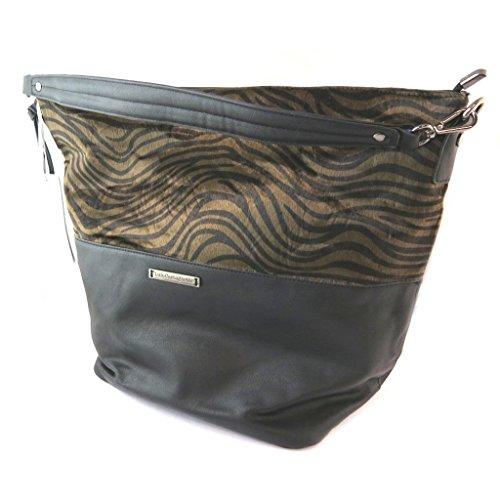 Bag designer Lulu Castagnettezebra nero - 45x32x20 cm.