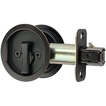 Citiloc Round Bed Bath Privacy Pocket Door Latch Oil