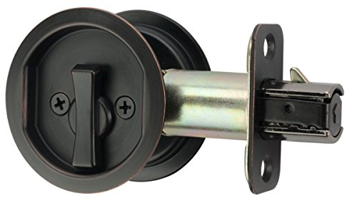 Bath Pocket Door Lock - Citiloc Round Bed/Bath Privacy Pocket Door Latch Oil Rubbed Bronze