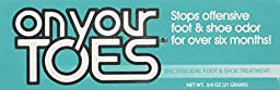 On Your Toes Foot Bactericide Powder - Eliminates Foot Odor for Six Months, 21 grams (One Pack)