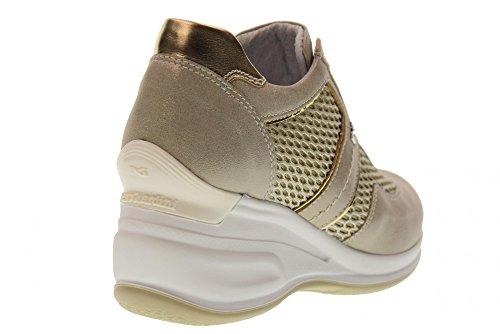 Bajos de 505 P805072D Mujeres Las Beige de Platino Zapatillas Zapatos Cuña de Perlato Deporte Nero Giardini con FwqE7cU