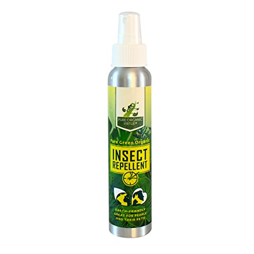Pure Organic Virtue All Natural Insect Repellent - Cedar Oil Based Pest Control Spray - Safe for Pets