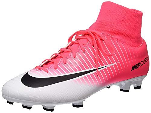 e6981b649 Nike Men s Mercurial Victory Vi Dynamic Fit Fg Racer Pink Black White Soccer  Shoes - 10.5A