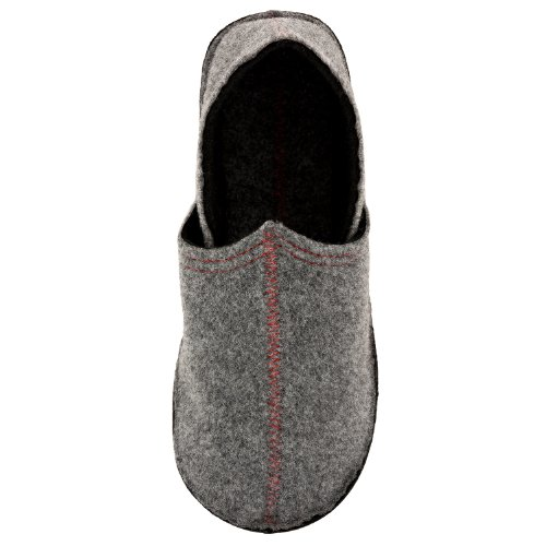 Stylische Hausschuhe Filz Pantoffeln Unisex in verschiedenen Farben Original Lumaland Grau/Schwarz