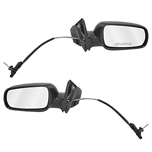 Driver and Passenger Manual Remote Side View Euro Type Mirrors w/ Clear Split Glass Replacement for Volkswagen 1J185750701C 1J1857508P01C Golf Mirror Passengers Side Manual