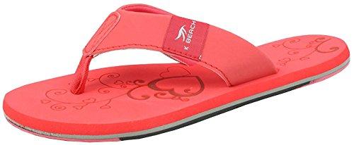 BOCKSTIEGEL Chanclas para hombres y mujeres | Varios diseños | Zapatillas de ducha | Suela antideslizante KATRIN - Rojo - Multi