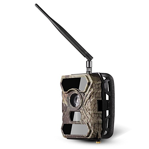 Garain Wireless Trail Camera, 0.4s Trigger MMS / 3G / SMTP / FTP Transmission Wildlife Camera with Night Vision, 1080P HD 12 MP 3 Zone Infrared Sensor IP66(US STOCK)