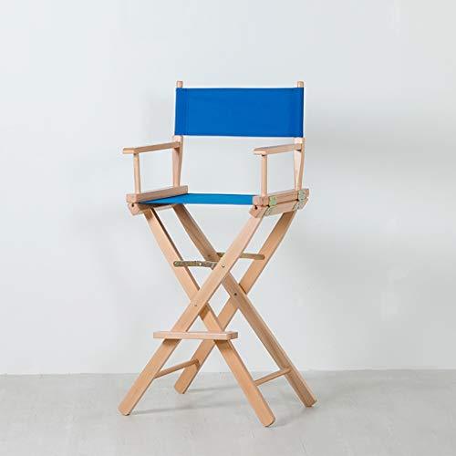DCCYZ-YJ Silla de Madera Maciza Silla del Director de Lona Plegables portatiles al Aire Libre Silla sillas Sillas for Bar sillas de Ocio sillas de Oficina (Color : F1)