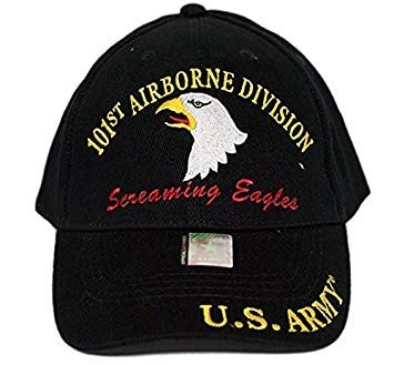 U.S. Army 101st Airborne Screaming Eagles Black Embro Cap Hat