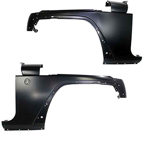 Koolzap For 07-16 Wrangler Front Fender Quarter Panel Left Right Side SET PAIR