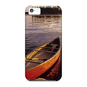 Bumper Hard Phone Case For Apple Iphone 5c (Zhi24638oFZi) Provide Private Custom Fashion Canoe On A Lake Pictures
