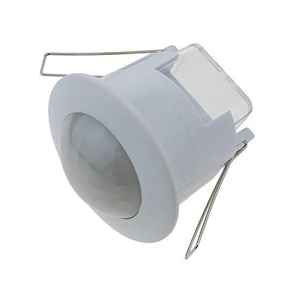 Cablematic - Detector de movimiento por infrarojos de techo empotrable color blanco