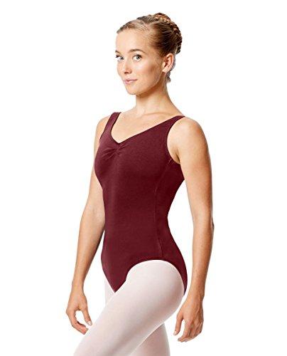 Calla Dancewear Womens Shirley Tank Dance Leotard XL Burgundy