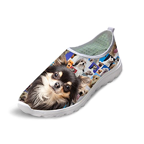 FOR U DESIGNS Fashion Animal Print Summer Casual Mesh Breathable Soft Unisex Running Shoes Papillon nQwg14