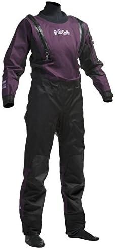 GUL Womens Code Zero U-Zip Drysuit Dry Suit Black Plum Including UNDERFLEECE - Easy Stretch Waterproof Sprayproof