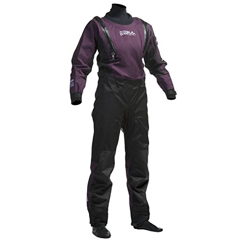 2018 Gul Ladies Code Zero U-ZIP Dry Suit Black / Plum GM0373-A8 Sizes- - Medium
