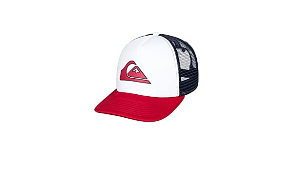 0992bf07fab25 Quiksilver Mens Snapper - Trucker Cap Hat White One Size  Amazon.ca   Clothing   Accessories