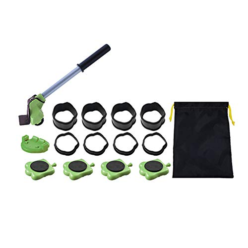 King Crane - Funiture Lifter/Home Trolley Lift and Move Slides Kit for Heavy Things(Green Color) by King Crane