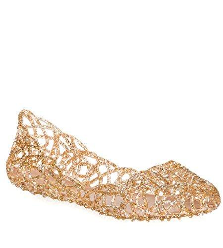 Major-Q Alaska1 Elegance Layered Lines Jelly Ballet Flats (6 B (M) US, Rose Multi Glitter)