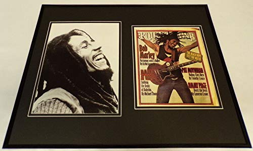 Bob Marley Framed 16x20 Rolling Stone Cover & Photo Display