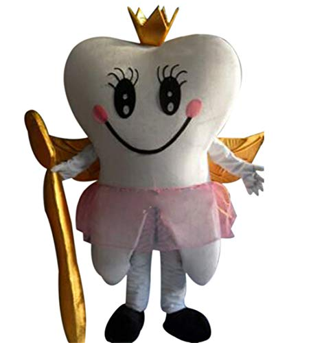 Tooth Fairy Queen Mascot Costume Cartoon Fancy Party Dress Performance Suit Adult -