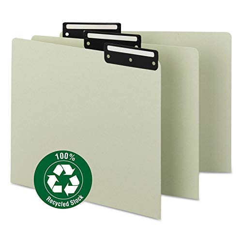 (Smead Recycled Tab File Guides, Blank, 1/3 Tab, Pressboard, Letter, 50/Box)