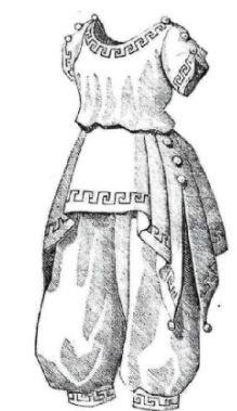 [1870 - 1890 Grecian-style Bathing Dress Pattern] (Woman Gunslinger Costume)