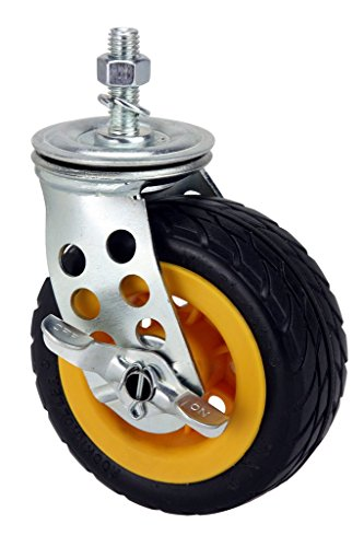 """Rock-N-Roller R5X2CSTR Upgrade Ground Glider Low Profile Caster with Brake (for R8 and R10 Multi-Carts), 5"""" x 2"""""""